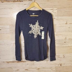 NWT Old Navy snowflake top